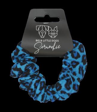 Big and Little Dogs Big and Little Dogs Blue Leopard scrunchie