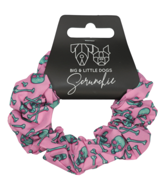 Big and Little Dogs Big and Little Dogs Skull and Bones scrunchie