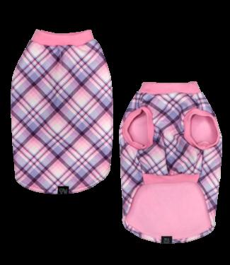 Big and Little Dogs Big and Little Dogs Fleece Pyjama Purple & Pink Plaid