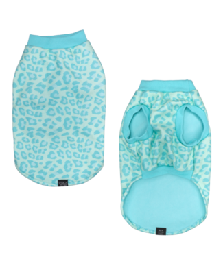 Big and Little Dogs Big and Little Dogs Fleece Pyjama Turquoise Leopard