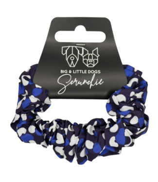 Big and Little Dogs Big and Little Dogs Winter Blues scrunchie