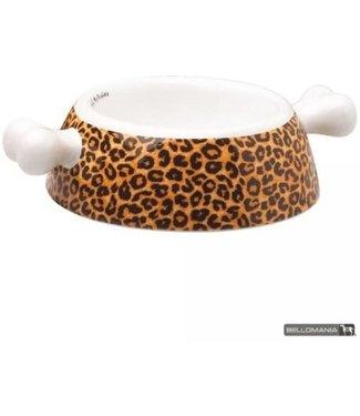 Bellomania Bellomania Voerbak Porselein Leopard - Small