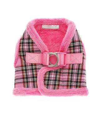 Urban Pup Urban Pup Luxury Fur Lined Pink Tartan Harness