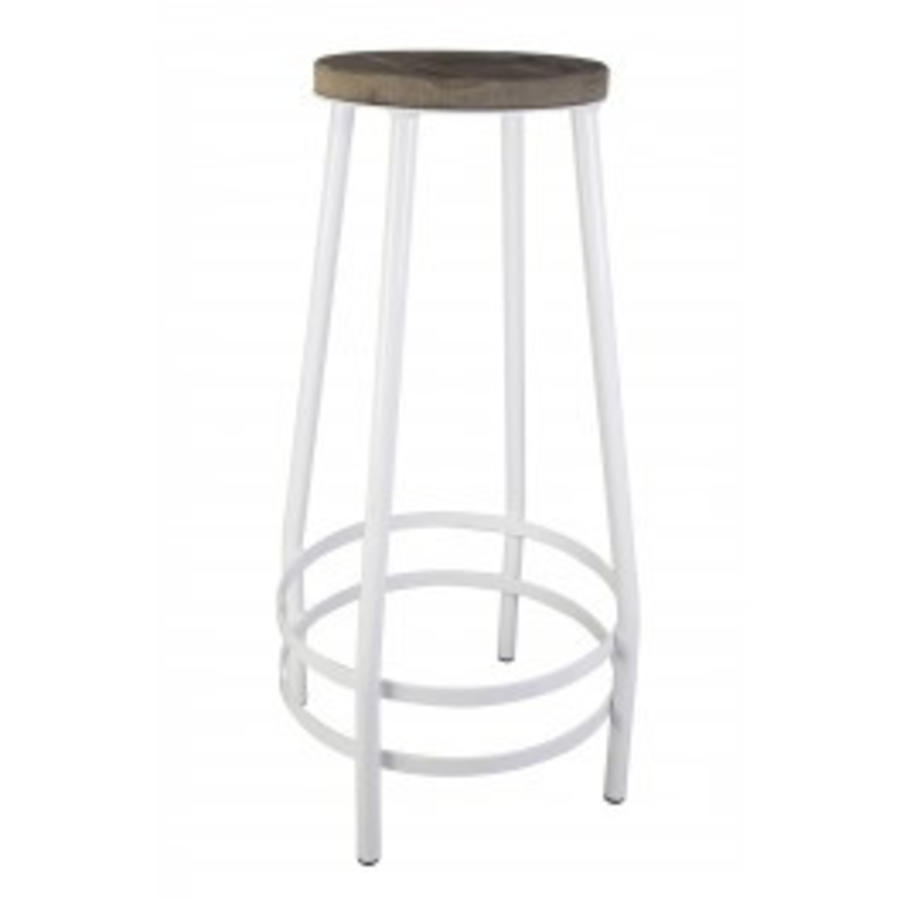 Bar stool metal white