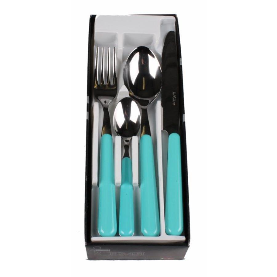 24 Piece Brio Turquoise