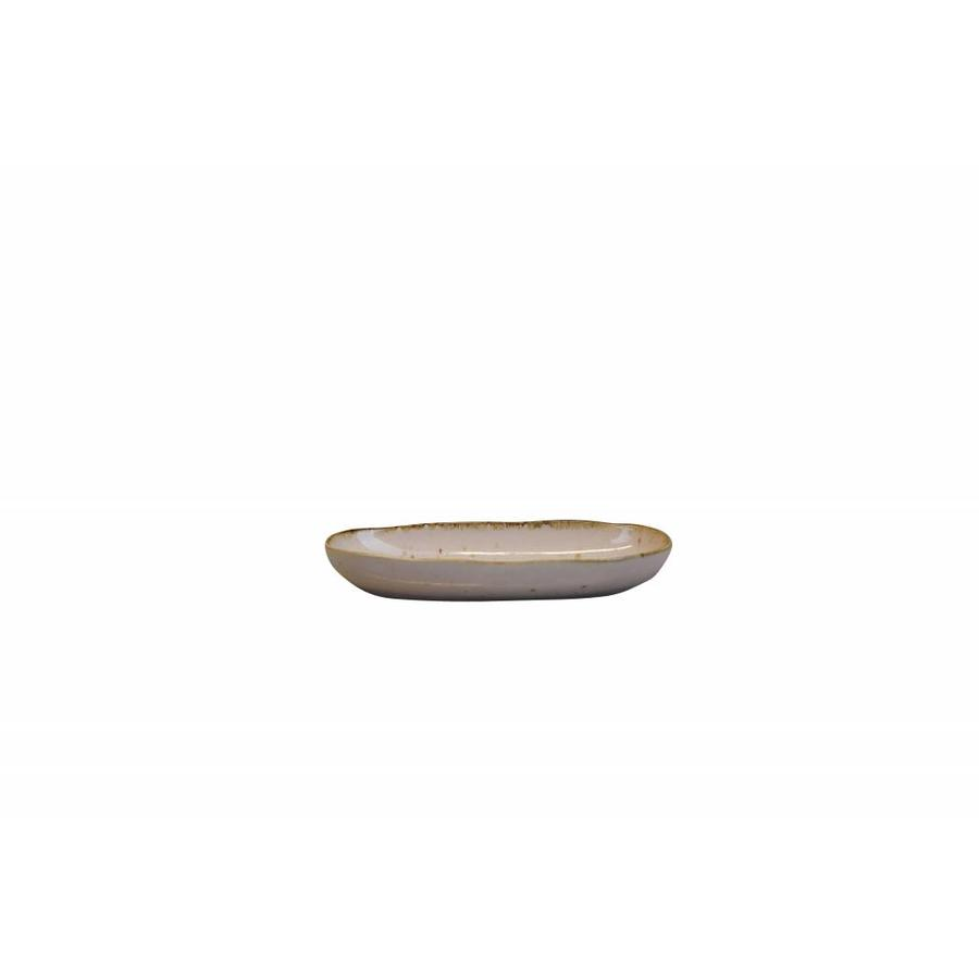 Bowl Stone oval small light pink