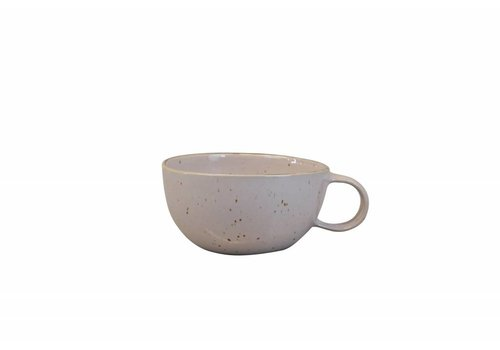Soup bowl with ear Stone light pink