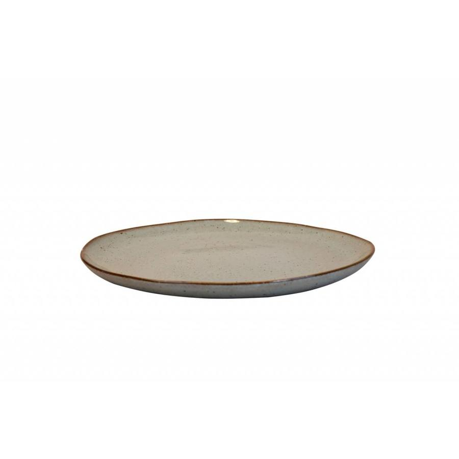 Dinner plate Stone sea green