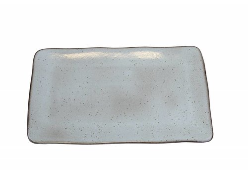 Rectangular bowl large Stone sea green