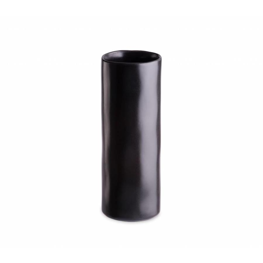 Cylinder vase medium riviera sable noir