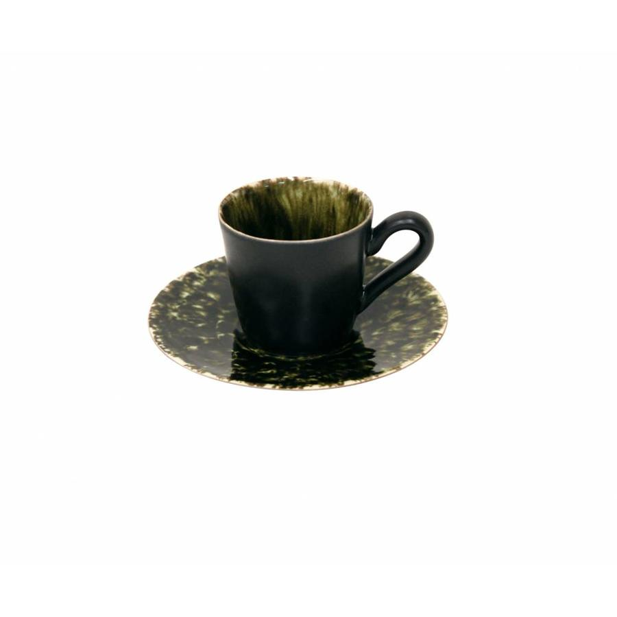 Coffee cup and saucer 0,08 L Riviera forest