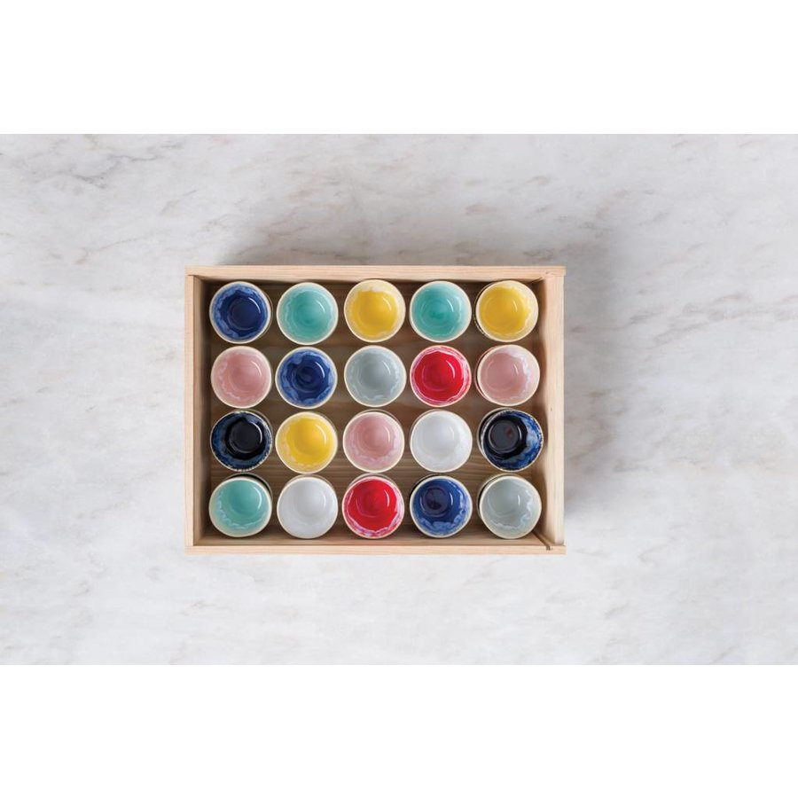 Wooden box 40 espresso cups