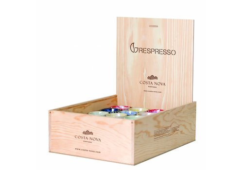 Wooden box 40 espresso cups