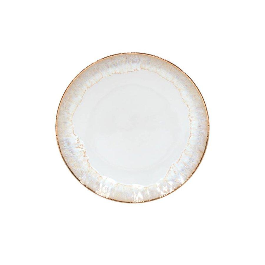 Dinerbord Taormina wit met gouden rand