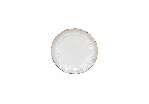 Ontbijtbord Taormina wit met gouden rand