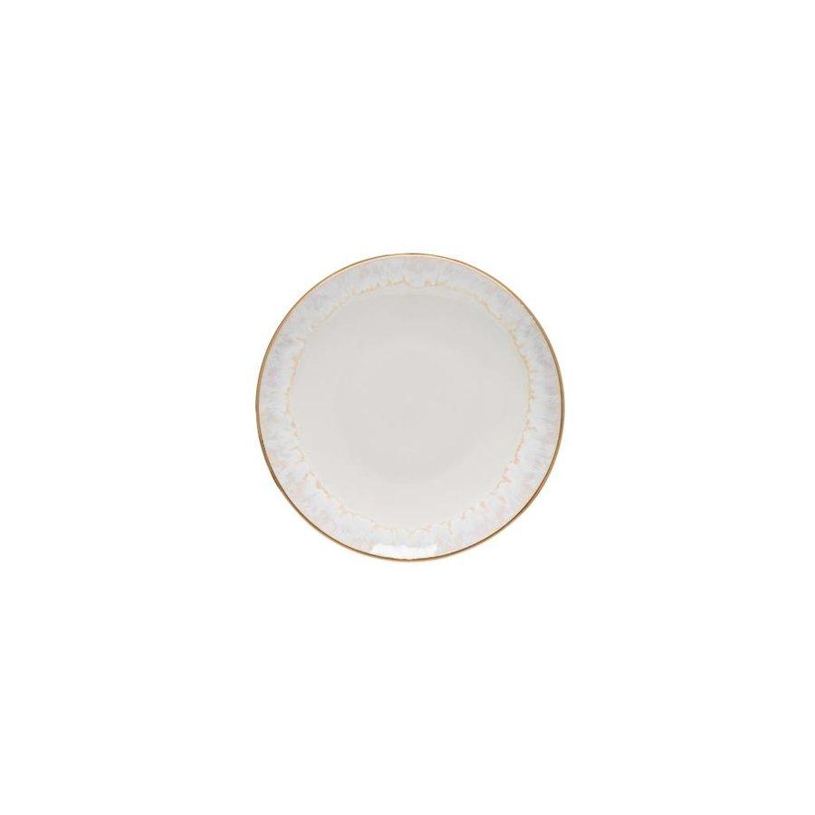 Broodbord Taormina wit met gouden rand