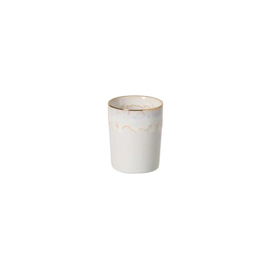 Beker Taormima wit met gouden rand