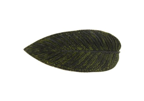 Groot blad 40cm riviera donkergroen