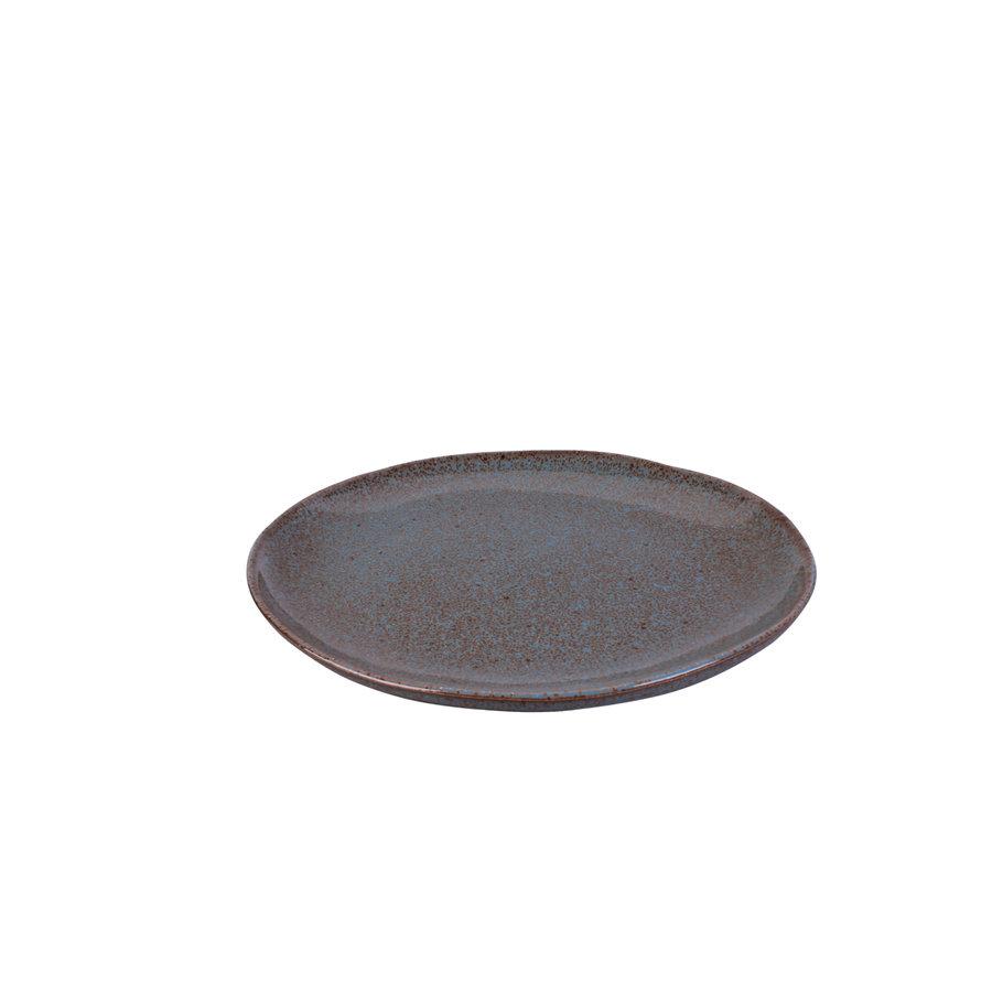 Dinner plate Stone petrol
