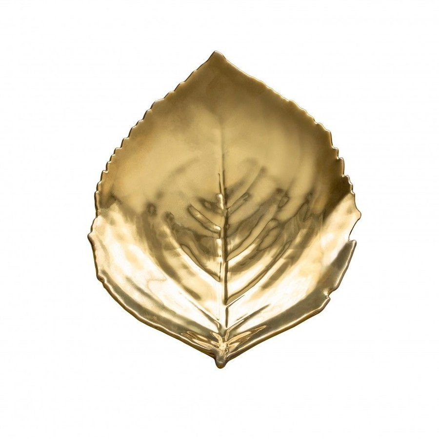 Schaaltje blad Groot riviera goud