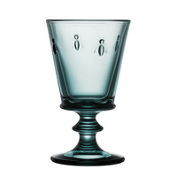blue water glass bee