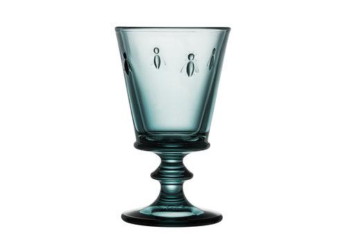 blauw wijnglas bee