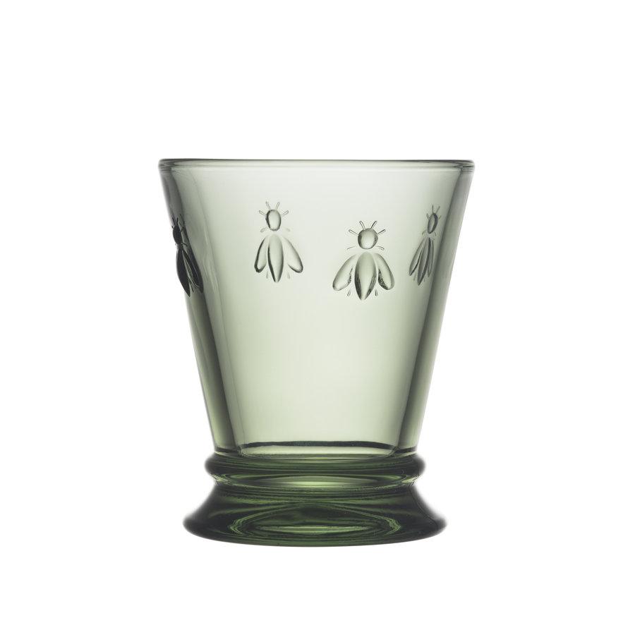 groen waterglas bee