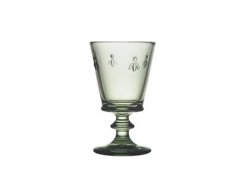groen wijnglas bee