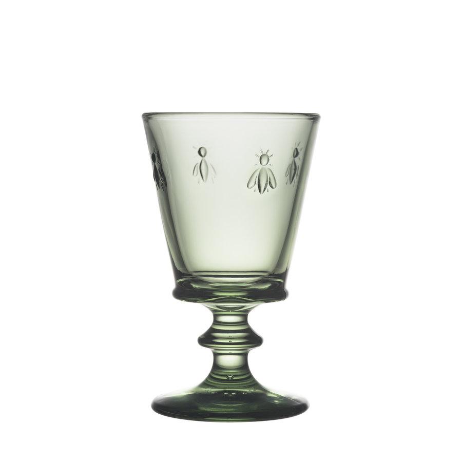 green wine glass bee