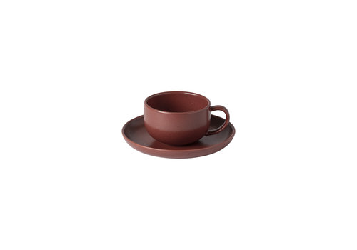 Cup & saucer Pacifica Red