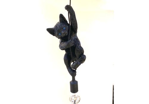 Cat lamp black