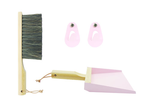 Gift box dustpan and brush Pink Andrée Jardin