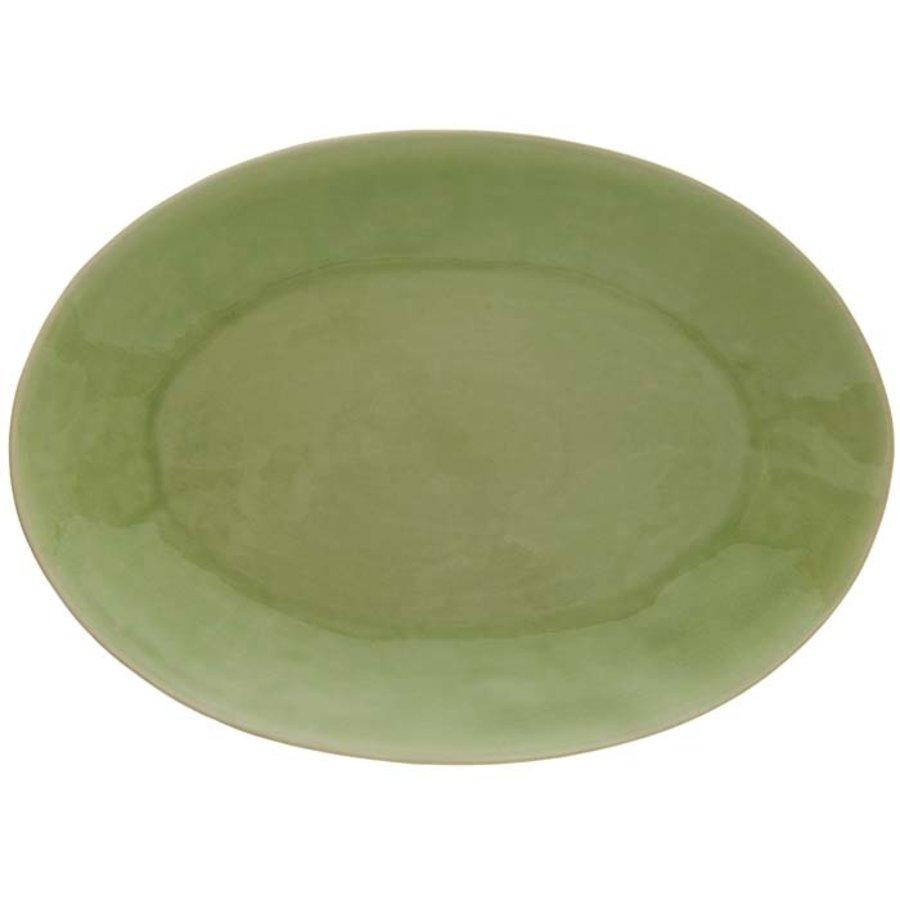 ovale schaal 40cm riviera vert frais