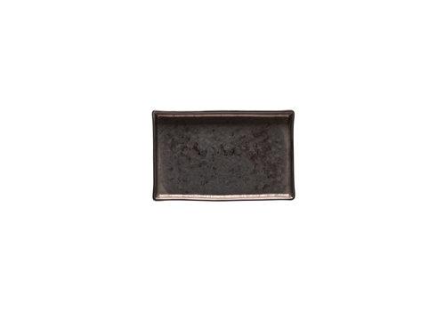 Schaaltje rechthoek 19cm Lagoa zwart