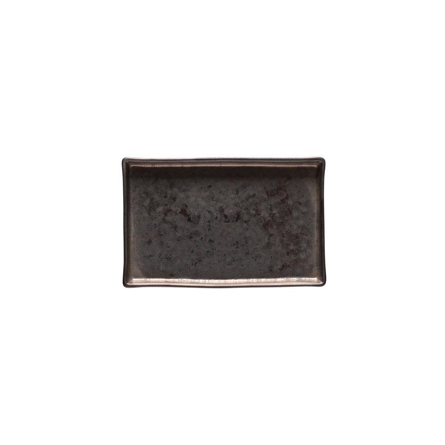 Rect. tray 19 cm Lagoa black