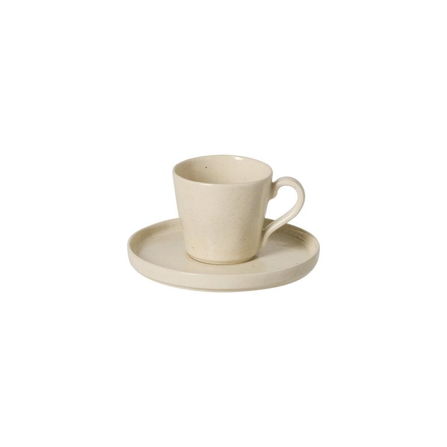 Lagoa teacup and saucer creme