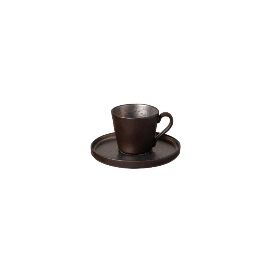 koffiekop en schotel 0.21L Lagoa zwart