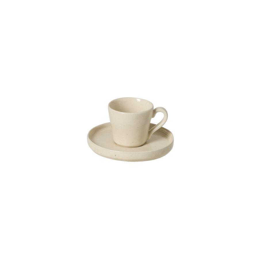 Lagoa koffiekop en schotel creme