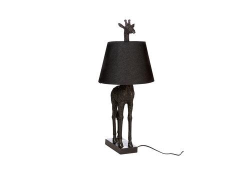 Giraf lamp staand zwart kap