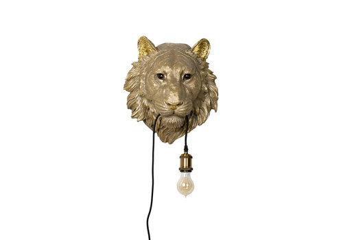 Tijger lamp goud