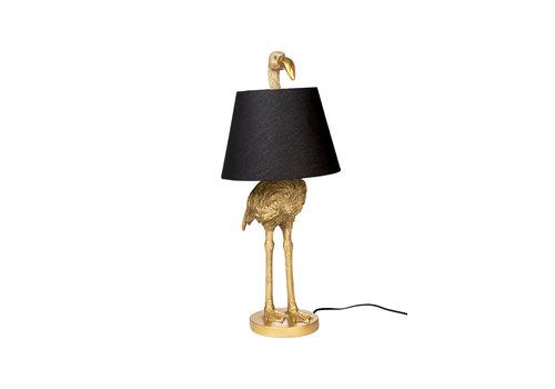 flamingo lamp with shade gold
