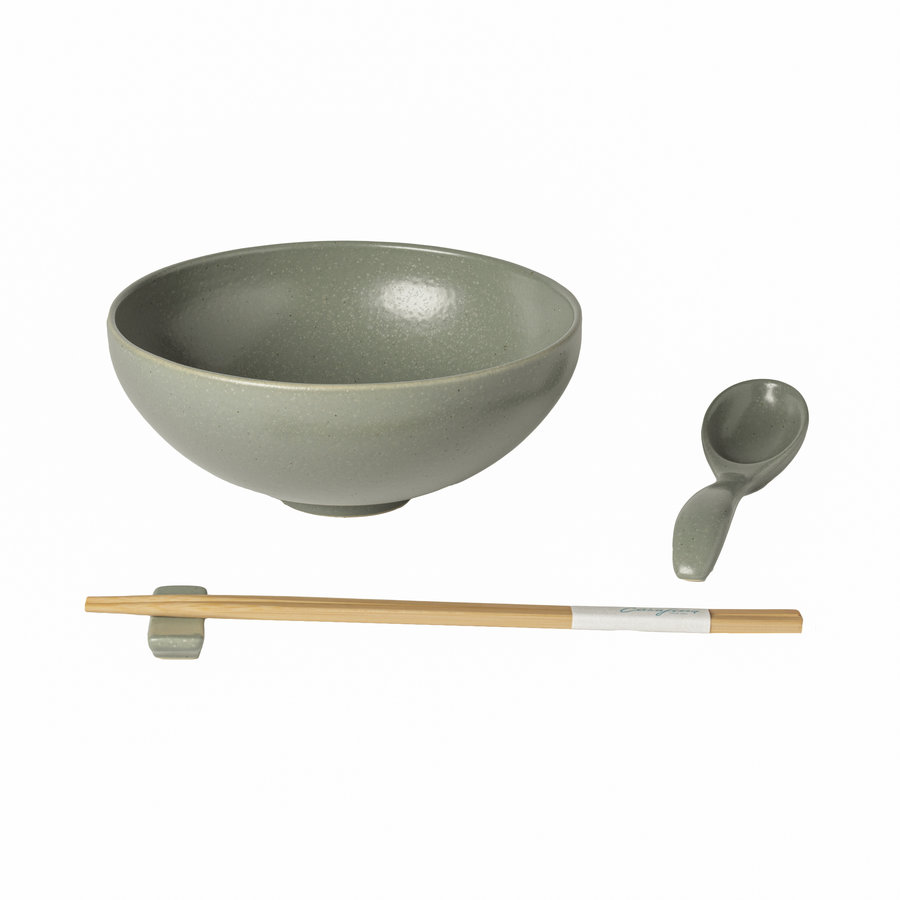 ramen bowl set pacifica green