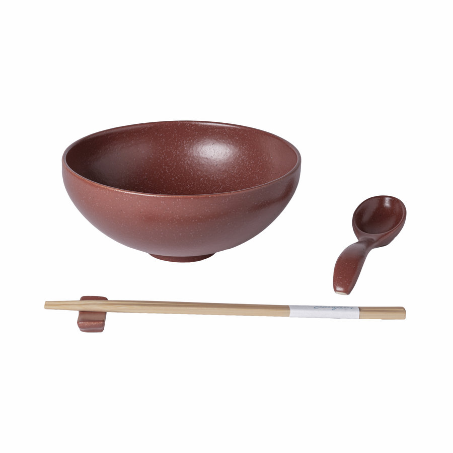 ramen bowl set pacifica red