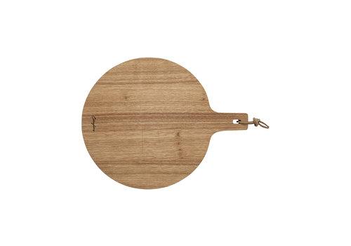 oak snijplank rond 34 cm