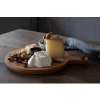 Oak wood round cutting- serving board 34 cm