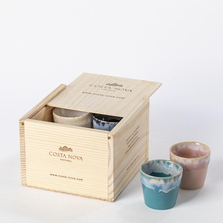 grespresso giftbox 8 espresso cups multicolor