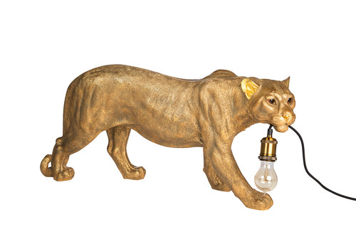leopard lamp gold