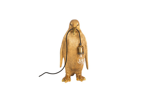 penguin  lamp gold