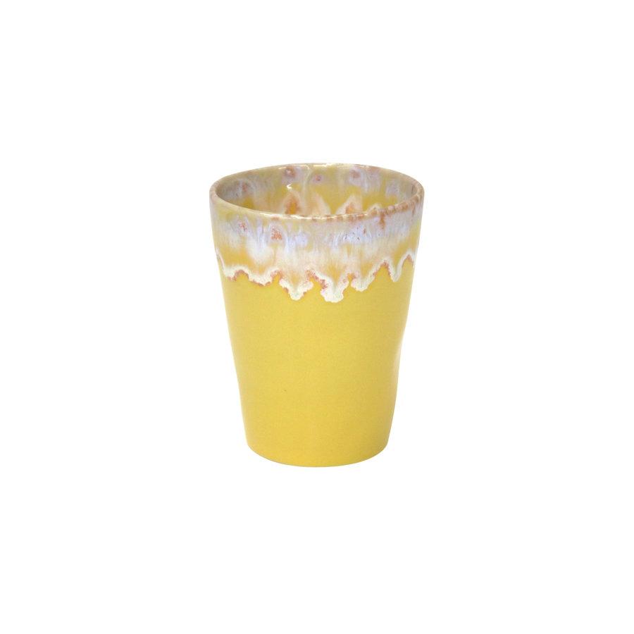 Grespresso latte kopje geel