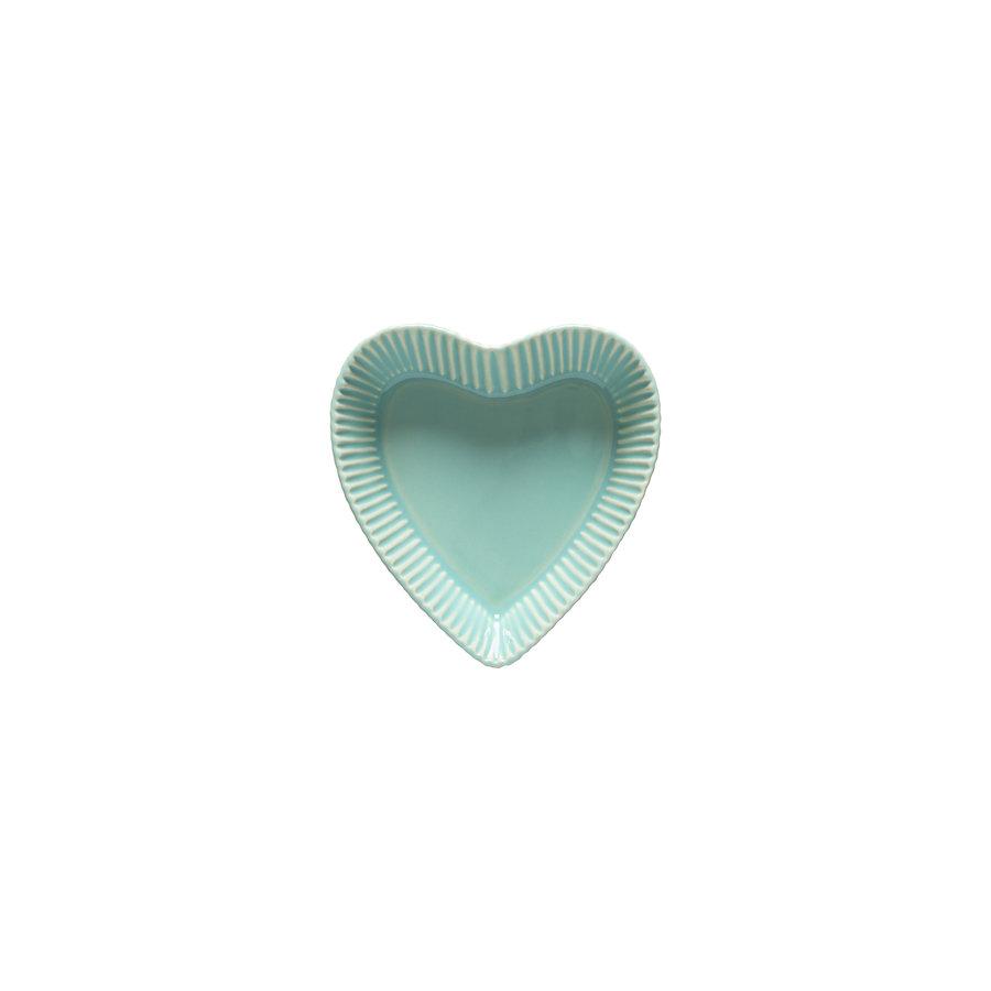 2 hartvormige schalen forma bakeware groen